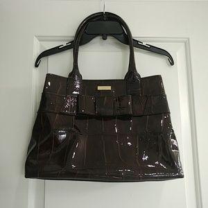 Kate Spade croco patent leather handbag